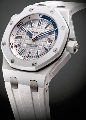 Часы Audemars Piguet Royal Oak Offshore Diver White Ceramic (Ref. 15707CB.OO.A010CA.01)