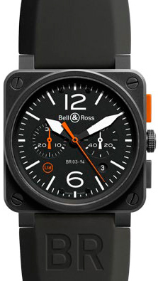 ���� BR 03-4 Carbon Orange Limited Edition �� Bell & Ross