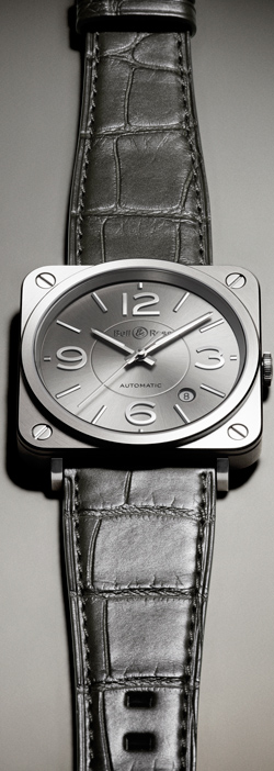 Женские часы Bell & Ross BR S Officer Ruthenium