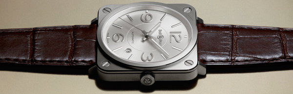 Женские часы Bell & Ross BR S Officer Silver