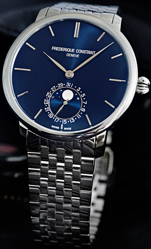 Часы Frederique Constant Slimline Moonphase Manufacture (Ref. FC-705N4S6B)