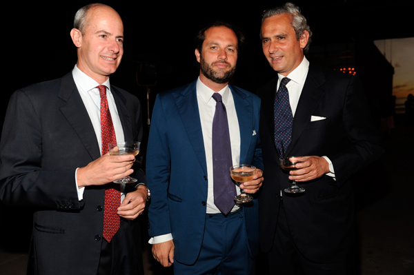Filippo De Peverelli, Francesco Melzi D'eril and Rodrigo Cipriani