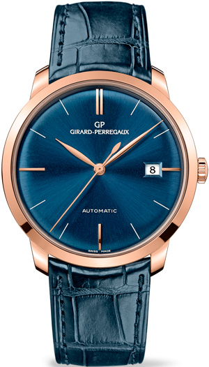 Часы Girard-Perregaux 1966 in Pink Gold with Deep Blue Dial (Ref. 49525-52-432-BB4A)