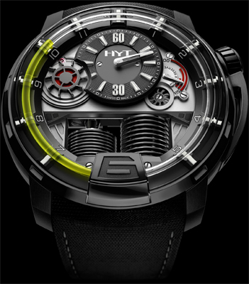 часы HYT H1 Hydro Mechanical Watch Black DLC