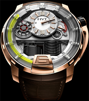 часы HYT H1 Hydro Mechanical Watch Pink gold (5N)