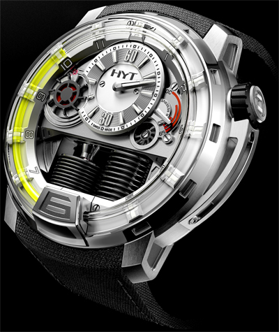 часы HYT H1 Hydro Mechanical Watch Titanium