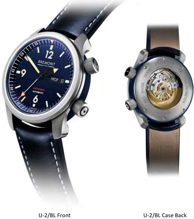 часы U2 Blue Chronometer от Bremont