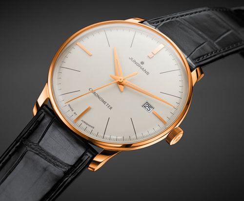 часы Meister Chronometer Gold от Junghans