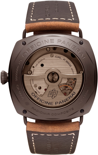задняя сторона часов Radiomir Composite® Black Seal 3 Days Automatic – 45 mm (Ref. PAM00505)