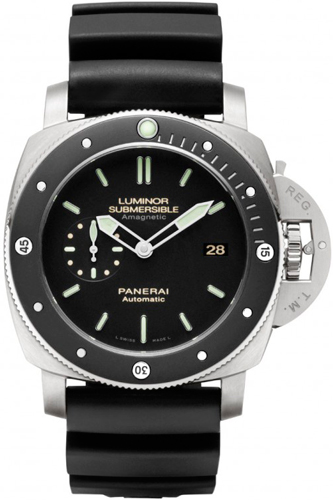 часы Luminor Submersible 1950 Amagnetic 3 Days Automatic Titanio (PAM 389)