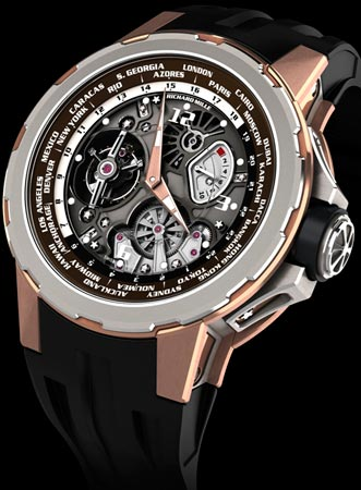 Часы в честь Jean Todt - Tourbillon RM 58-01 World Timer Jean Todt Limited Edition от Richard Mille