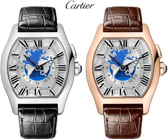 часы Tortue Multi Time Zone от Cartier