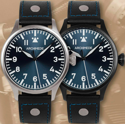 Часы Archimede Pilot 42 Red, White and Blue
