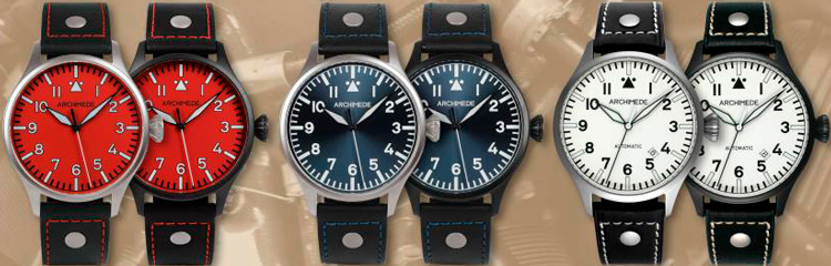 Часы Pilot 42 Red, White and Blue от Archimede