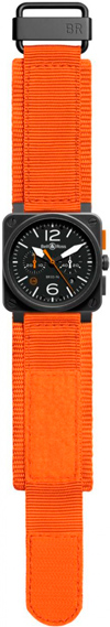 Часы BR 03-4 Carbon Orange Limited Edition от Bell & Ross