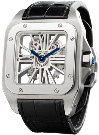 Часы Cartier Santos 100 Skeleton