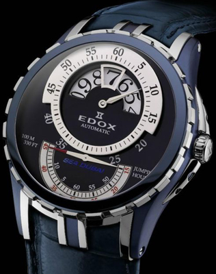 Edox Grand Ocean Jumping Hour Watch