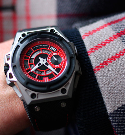 часы SpidoLite II Titanium Red
