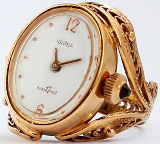 часы-кольцо Чайка
