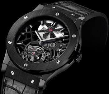 часы Hublot Classic Fusion Skeleton Tourbillon Black Ceramic