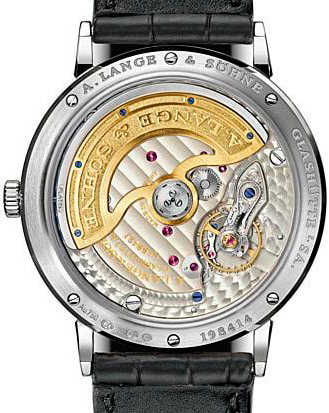 задняя сторона часов A. Lange & Söhne Saxonia Automatic Diamonds