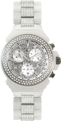 Часы Lancaster Ceramik Chrono Diamonds Pave