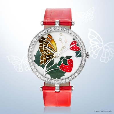 часы Papillon Rouge Gourmand из коллекции Lady Arpels Papillon Extraordinary Dials