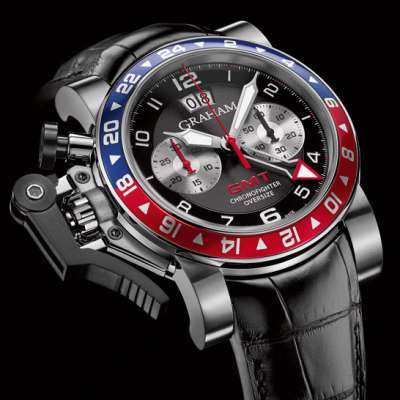 часы Chronofighter Oversize GMT Blue & Red