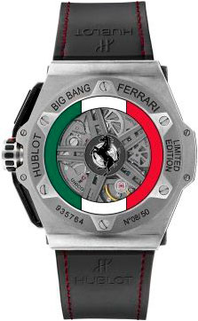 задняя сторона часов Hublot Big Bang Ferrari Mexico Limited Edition