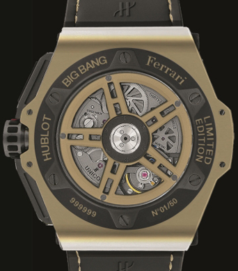 задняя сторона часов Big Bang Ferrari Magic Gold Watch China Limited Edition