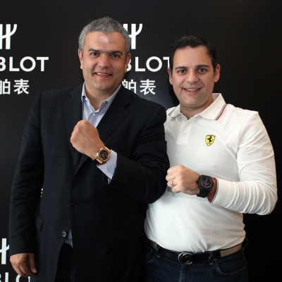 Рикардо Гваделупе, CEO компании Hublot, Эдвин Фенеч, CEO компании Ferrari Greater China