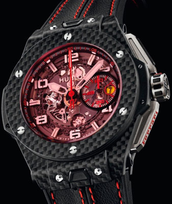 часы Big Bang Ferrari Red Magic Carbon