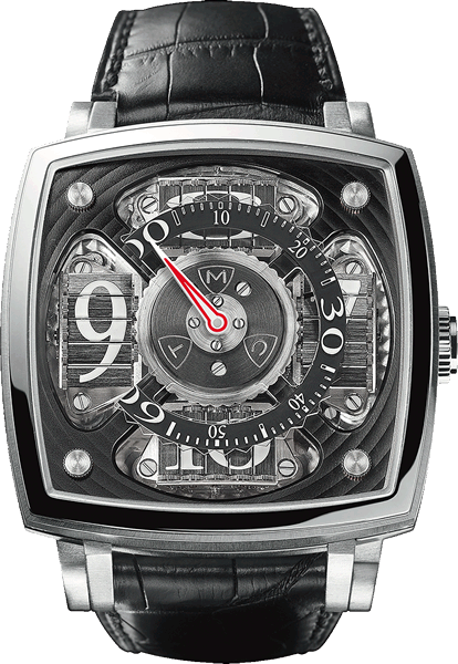 часы Sequential One white gold white numerals (Ref. SQ 45 S1 WG S)