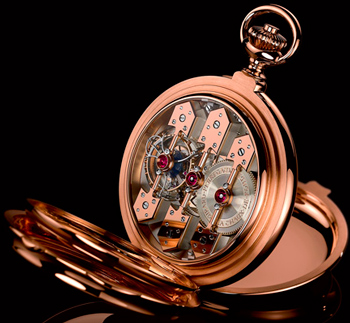 Часы Girard-Perreguax Tourbillon with Three Gold Bridges Pocket