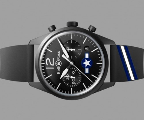 ����  BR 126 Carbon Air Force  US Insignia �� Bell & Ross