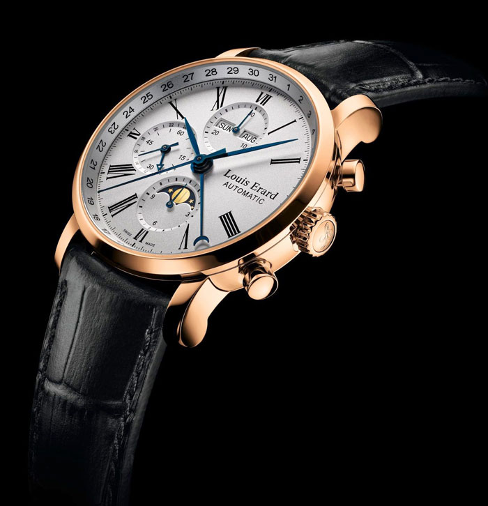 ���� Excellence Chronograph Moon Phase 24 Hours Gold �� Louis Erard