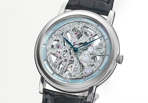 Часы Credor 40th Anniversary Signo Cherry Blossoms Skeleton от Seiko