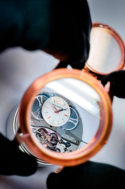 Механизм часов Constant Escapement L.M. Pink Gold от Girard-Perregaux