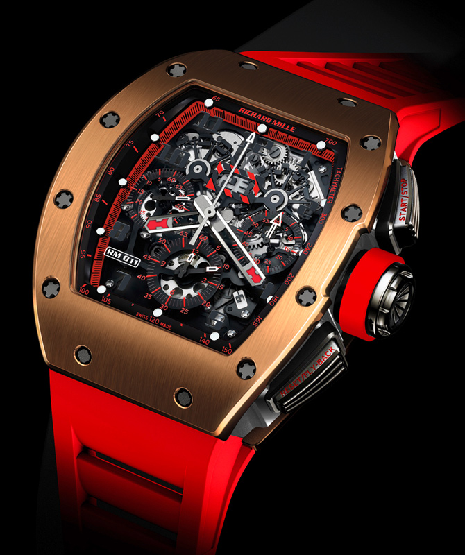 Часы RM 011 Red Demon Flyback Chronograph от Richard Mille