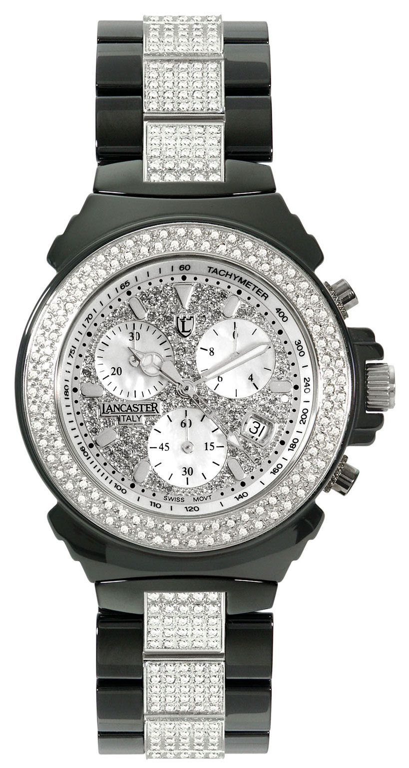 Ceramik Chrono Diamonds De Luxe