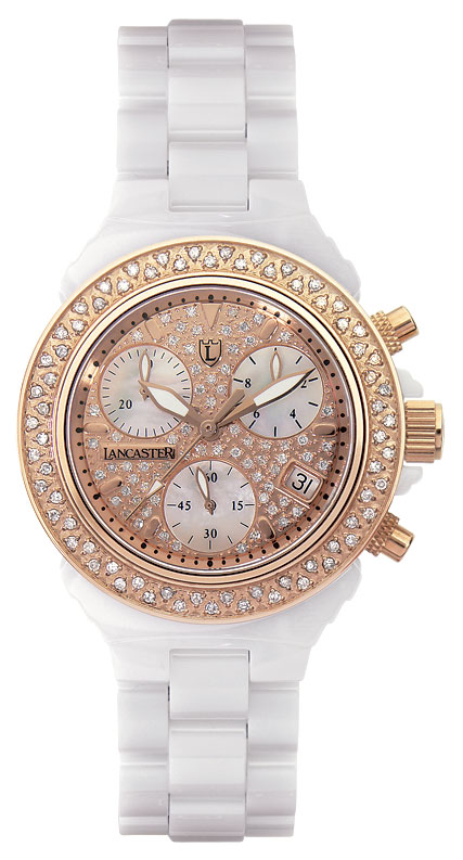 Ceramik Chrono Pave Rose Gold