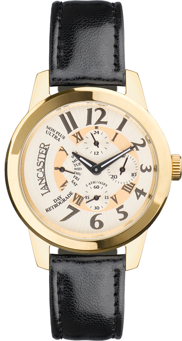 Classic Retrograde Yellow Gold