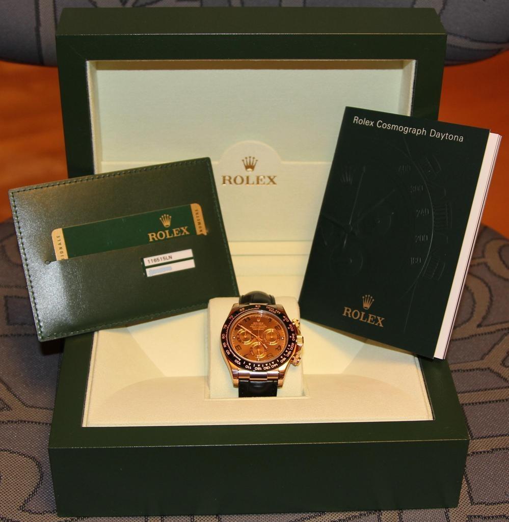 часы Rolex 116515LN CHOCOLATE DIAL