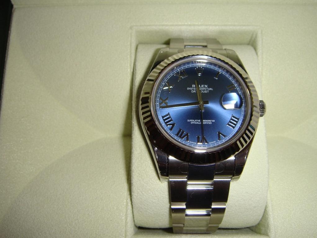 часы Rolex 116334(Blue dial Roman numerals)