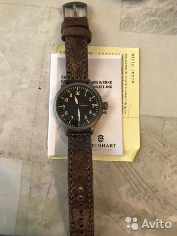 "часы Steinhart Steinhart ""Nav.B-Uhr vintage TITANIUM"""