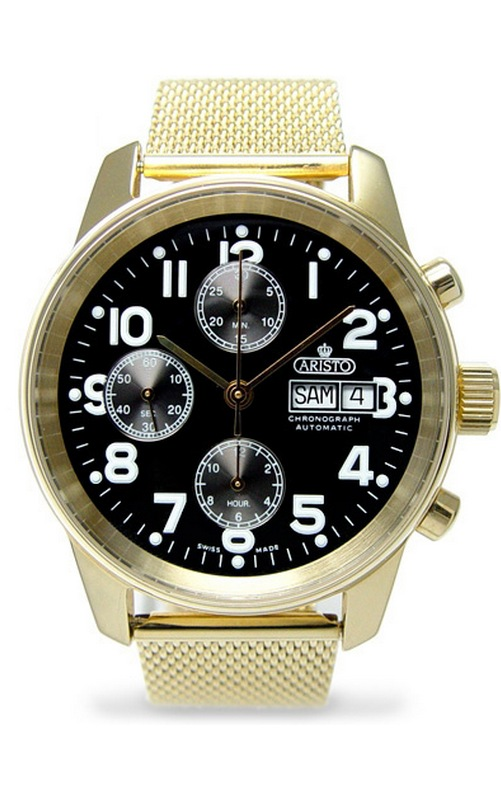 часы Aristo Aristo Chronograph Automatic ETA Valjoux 7750 - 1H123