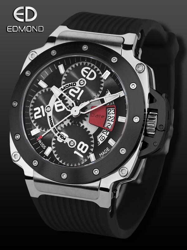 часы Edmond Pole Guardian collection Black & Silver