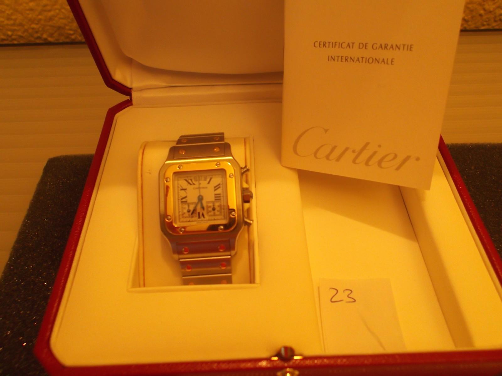 часы Cartier Cartier Santos из жёлтого золота W20042C4