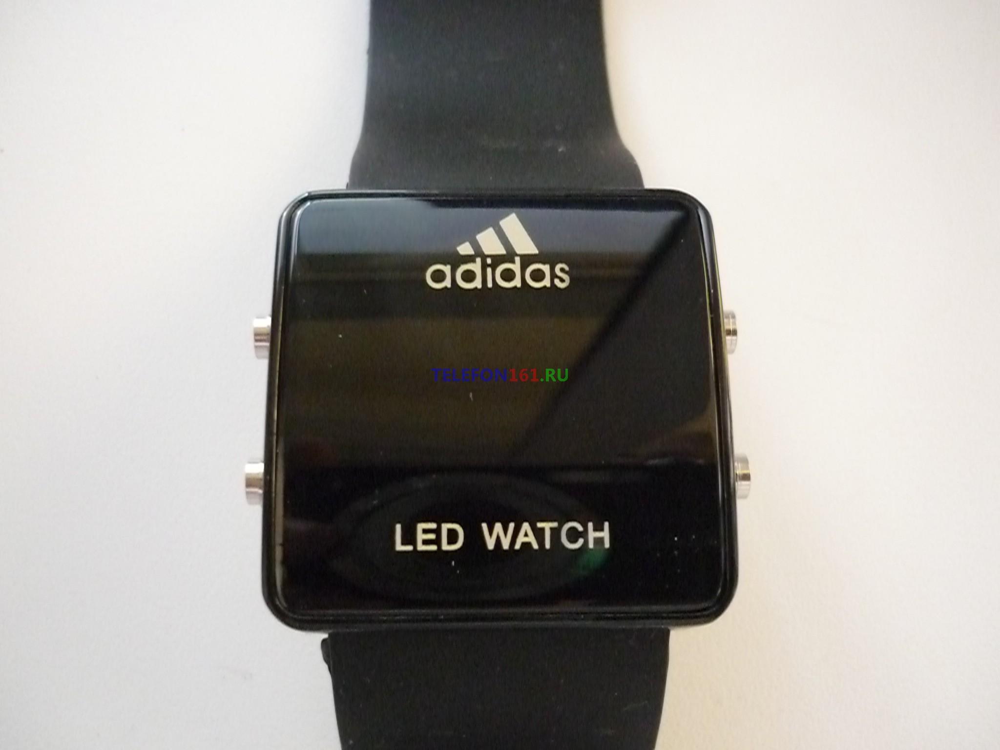 """часы Adidas LED Часы светодиодные """"Adidas"""" с подсветкой LED (черные)"""