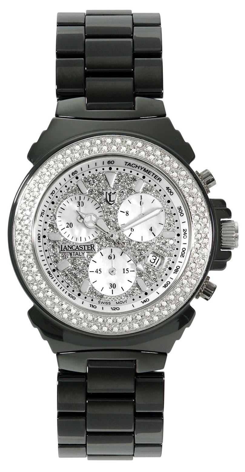 часы Lancaster Ceramik Chrono Diamonds Pave